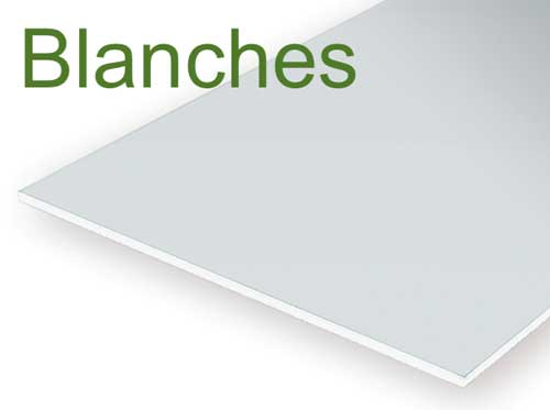Plaques blanches