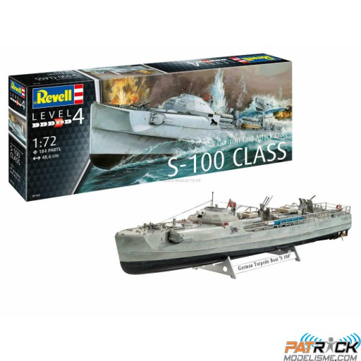 1/72e Revell German Fast Attack Craft S-100