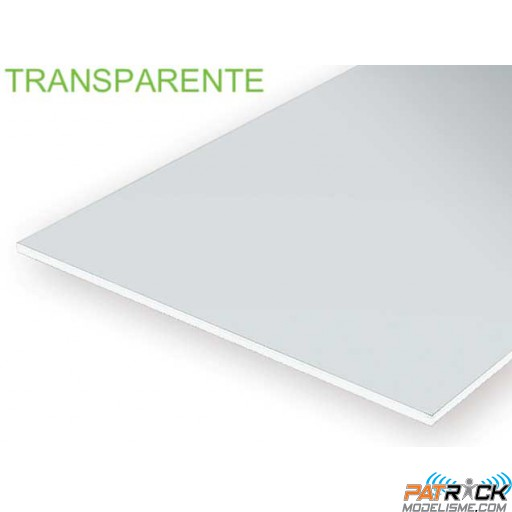 9005-Evergreen 3 Plaques transparentes 152x304x0,12mm