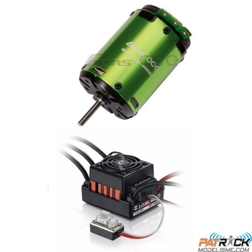 Combo brushless 1/10 ESC Quicrun WP 60A + 8T 4500kv Gens ace