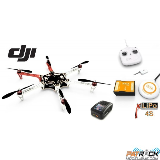 ∆ Dji F550 e305 - COMBO - NAZA-M V2+GPS, Radio DT7 new, Lipo 4000 3s, Chargeur rapide