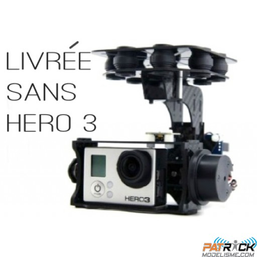 Nacelle 2 axes WIND1 Brushless Yuntai pour Gopro 3