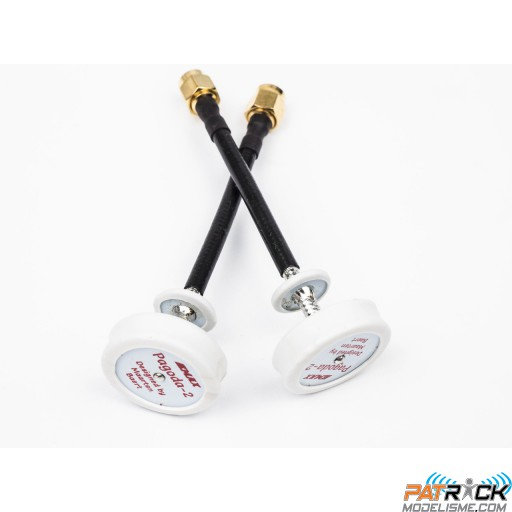 2X Antennes omnidirectionnelles PAGODA-2 LHCP 80mm FPV 5.8G SMA