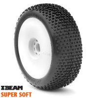 AKA Roues jantes EVO blanche 1/8 BUGGY I-BEAM SUPERSOFT LONG LIFE (2)
