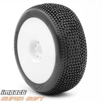 AKA Roues jantes EVO blanche 1/8 BUGGY IMPACT SUPERSOFT LONG LIFE (2)