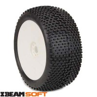 AKA Roues jantes blanche 1/8 TRUGGY I-BEAM SOFT (2)