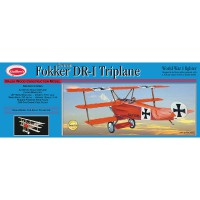 1/16e Guillow's Fokker DR-1 Triplane Kit 508mm