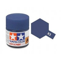 Pot de peinture acrylique Tamiya X-3 Bleu Royal brillant 10ml
