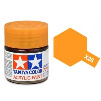 Pot de peinture acrylique Tamiya X-26 Orange translucide 10ml