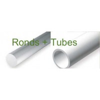 217-Evergreen Assortiment de 4 ronds et 3 tubes