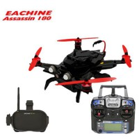 Eachine Assassin 180 FPV + Masque VR-007 HD + Radio I6 + OSD GPS NAZE32 RTF