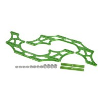 3 racing kit de chassis alu Chassis alu vert renforcé pour Axial AX10