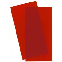 9901-Evergreen 2 Plaques transparentes rouge 152x304x0,25mm