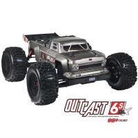 Arrma Outcast 6S BLX Stunt truck 4WD 1/8 Silver RTR