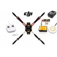 ∆ Dji F450 e305 - COMBO V2, Naza-M V2+GPS, Radio DJI DT7 new, Lipo 3s 2500, chargeur rapide, Train