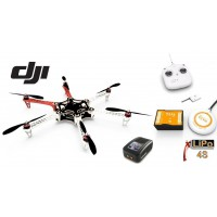 ∆ Dji F550 e305 - COMBO V2 - NAZA-M V2+GPS, Radio DT7 new, Lipo 4000 4s, Chargeur rapide, Train