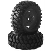 "Roues Fastrax 'Kong noir 90mm' 1.9"" Crawler (2)"