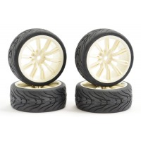 Roues Fastrax 20SP Blanches STREET 4pcs 1/10 Piste