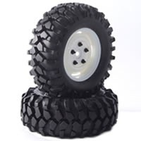 "Roues Fastrax 'Kong Blanches 90mm' 1.9"" Crawler (2)"