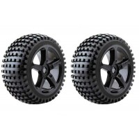 Roues Fastrax ROCK MTD 5 batons NOIR 1/8 Truggy