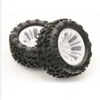 Roues FTX CARNAGE blanc 1/10 Monster (2)