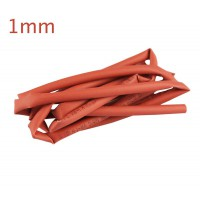 Gaine thermorétractable 1mm x 1m rouge