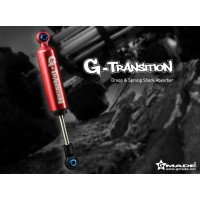 Amortisseur Alu G-TRANSITION Gmade 80mm rouge 4pcs - Scale 1/10