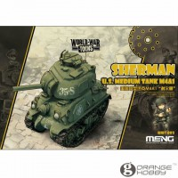Meng Char M4A1 SHERMAN US (SERIE WORLD WAR TOON)  (EASY CLIP)
