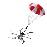 Parachute de secours 6,0m2 Set 1 (69J 8kg Multirotor)