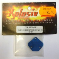 Alloy chassis gear cover ALU bleu – RC18T