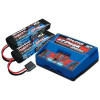 PACK CHARGEUR LIVE 2972G + 2 x LIPO 2S 7600MAH 2869X PRISE TRAXXAS