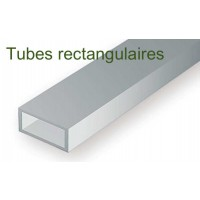 257-Evergreen 3 Tubes rectangulaires 3,17x6,35x355mm