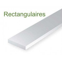 139-Evergreen 10 Baguettes rectangulaires 355x0,76x6,35mm