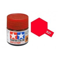 Pot de peinture acrylique Tamiya X-27 Rouge transparent 10ml