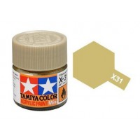 Pot de peinture acrylique Tamiya X-31 Titanium Or brillant 10ml